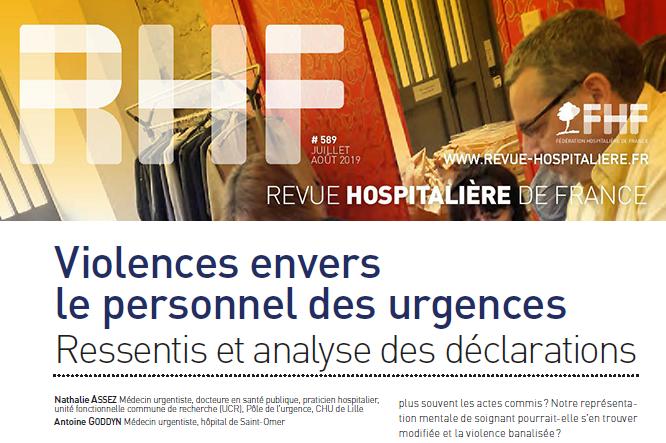 Enquête FHF HDF «Violences aux Urgences» – Publication dans la RHF