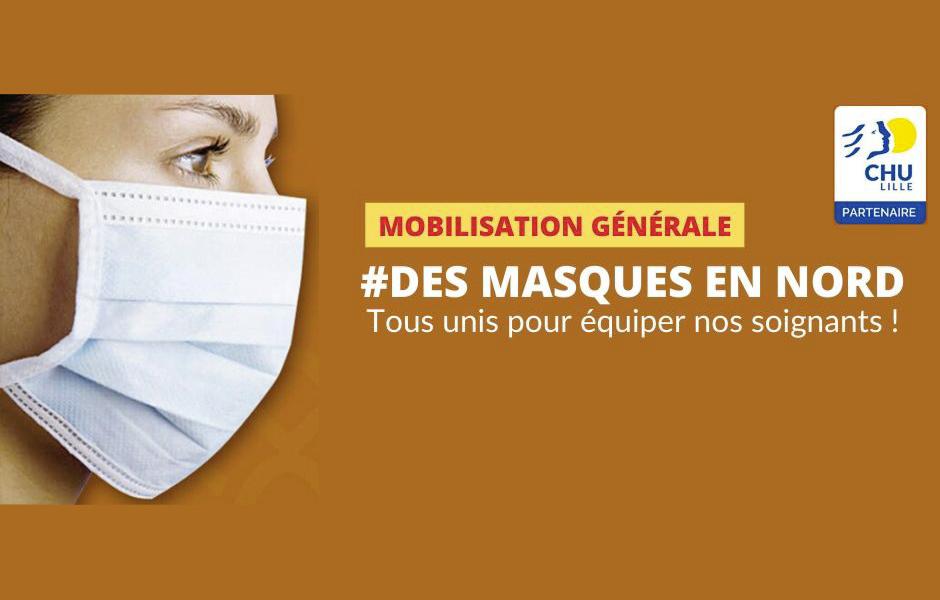 #DesmasquesenNord – Le CHU de Lille développe un modèle de masque en tissu et met à disposition le cahier des charges