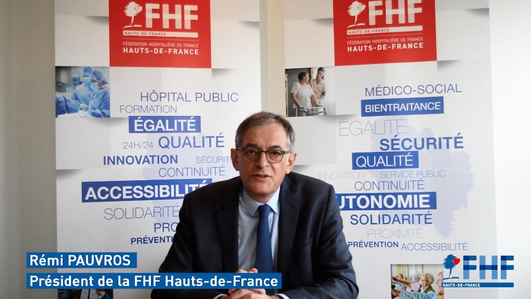 Vœux 2021 – Rémi Pauvros, Président de la FHF Hauts-de-France